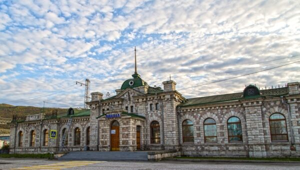 Вокзал из мрамора на Байкале